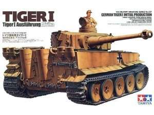 Model  German Tiger I tank initial production scale 1-35