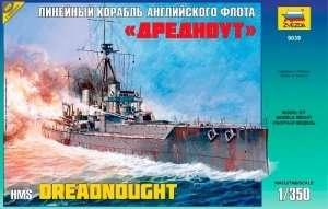 British battleship HMS Dreadnought in scale 1-350