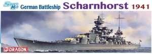 Model German Battleship Scharnhorst 1941 scale 1-350