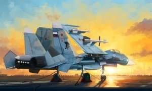 Russian Su-33 Flanker D in scale 1-72 Trumpeter 01678