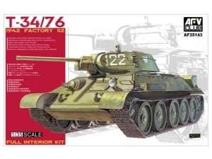 T-34-76 1942 Factory 112 Full Interior Kit in scale 1-35