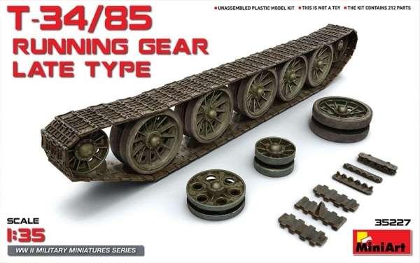 Plastikowe gąsienice - układ jezdny do modelu czołgu T-34/85, plastikowe elementy w skali w skali 1:35, MiniArt 35227