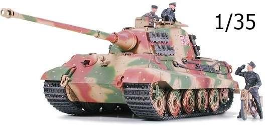 Niemiecki czołg ciężki King Tiger, plastikowy model do sklejania Tamiya 35252 w skali 1/35.-image_Tamiya_35252_1