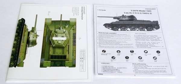 Trumpeter 00903 w skali 1:16 - model Soviet Tank T34/76 model 1943 - image k