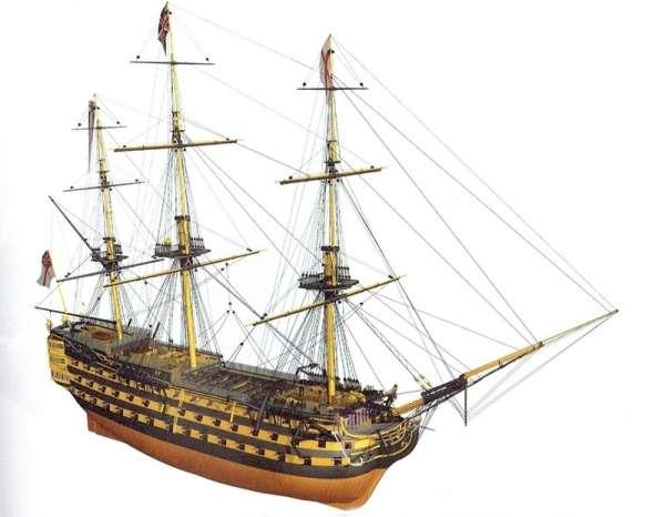 Żaglowy okręt liniowy HMS Victory , drewniany model do sklejania Billing Boats BB498 w skali 1:75-image_Billing Boats_BB498_1