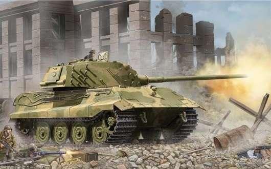 Niemiecki czołg E-75 Standardpanzer, plastikowy model do sklejania Trumpeter 01538 w skali 1:35.