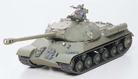 Model czołgu JS-3 po sklejeniu.