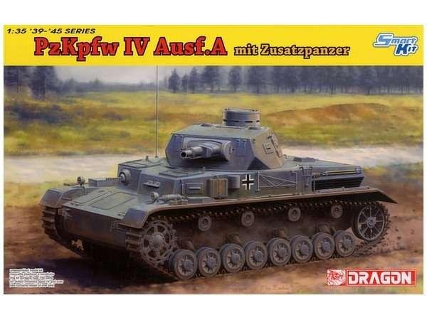 Niemiecki czołg średni Panzerkampfwagen IV Ausf. A, plastikowy model do sklejania Dragon 6816 w skali 1/35.-image_Dragon_6816_1