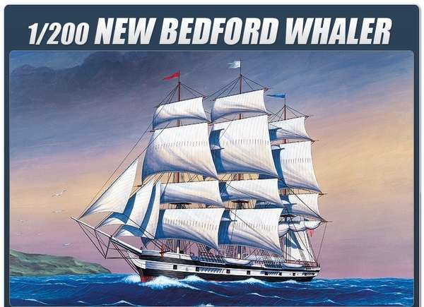 Model statku New Bedford Whaler, plastikowy model do sklejania Academy 14204 w skali 1/200.-image_Academy_14204_1
