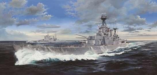Brytyjski krążownik HMS Hood, plastikowy model do sklejania Trumpeter 03710 w skali 1:200.-image_Trumpeter_03710_1