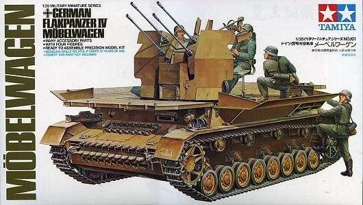Niemieckie samobieżne działo przeciwlotnicze na podwoziu czołgu PZ IV, plastikowy model do sklejania Tamiya 35101 w skali 1:35-image_Tamiya_35101_1