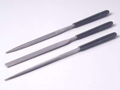 Modelarskie pilniki - iglaki - zestaw podstawowy Medium 3 szt. - Tamiya nr 74046-image_Tamiya_74046_1