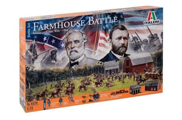 Italeri 6179 FARMHOUSE BATTLE - American Civil War 1864 - BATTLESET - mega duży zestaw modelarski z olbrzymią ilością figurek.-image_Italeri_6179_1