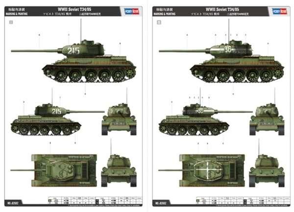 Hobby Boss 82602 Tank T-34/85