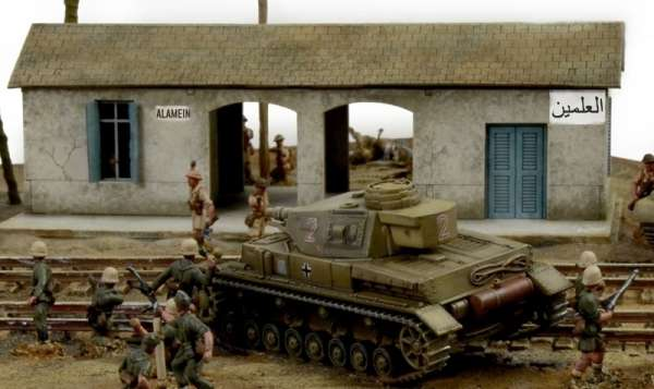 Battle Set El ALamein The Railway Station Italeri 6181 zestaw modelarski do sklejania image_1_ita6181_k-image_Italeri_6181_3