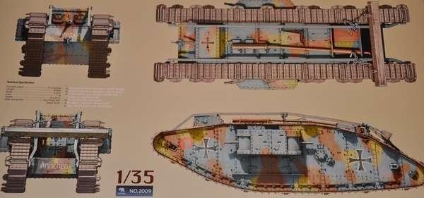 British WWI Heavy battle tank Mark IV Female model_do_sklejania_skala_1_35_takom_2009_image_6-image_Takom_2009_8