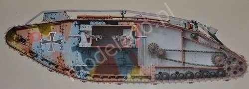 British WWI Heavy battle tank Mark IV Female model_do_sklejania_skala_1_35_takom_2009_image_7-image_Takom_2009_9