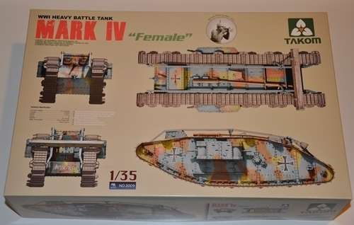 British WWI Heavy battle tank Mark IV Female model_do_sklejania_skala_1_35_takom_2009_image_1-image_Takom_2009_3