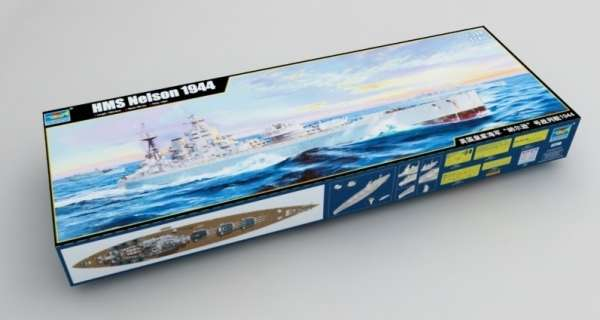 Plastikowy model do sklejania brytyjskiego pancernika w skali 1:200 - Trumpeter_03708_image_16-image_Trumpeter_03708_10