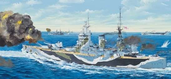 Plastikowy model do sklejania brytyjskiego pancernika w skali 1:200 - Trumpeter_03708_image_17-image_Trumpeter_03708_11