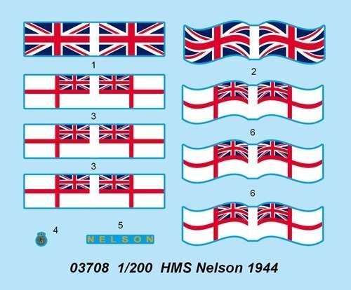 Plastikowy model do sklejania brytyjskiego pancernika w skali 1:200 - Trumpeter_03708_image_4-image_Trumpeter_03708_4