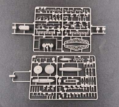 Brytyjski okręt wojenny - pancernik HMS Rodney w skali 1:200 plastikowy model do sklejania Trumpeter_03709_image_12-image_Trumpeter_03709_5