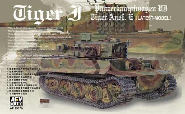 Niemiecki czołg Tiger I PZ VI Sd.Kfz.182 wersja E , plastikowy model do sklejania AFV Club 35079 w skali 1:35-image_AFV Club_AF35079_1