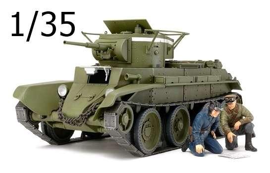 Radziecki czołg lekki BT-7 Model 1935, plastikowy model do sklejania Tamiya 35309 w skali 1:35.-image_Tamiya_35309_1