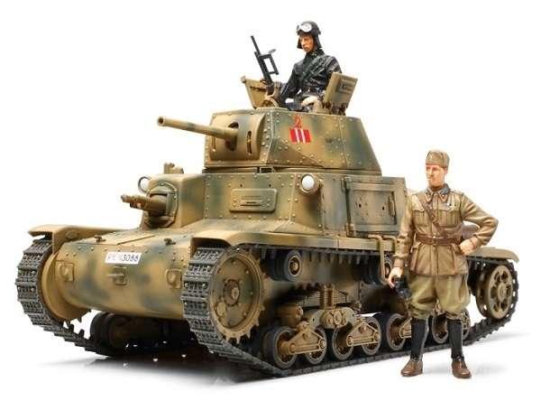 Model włoskiego czołgu średniego M13/40, plastikowy model do sklejania Tamiya 35296 w skali 1/35.-image_Tamiya_35296_1