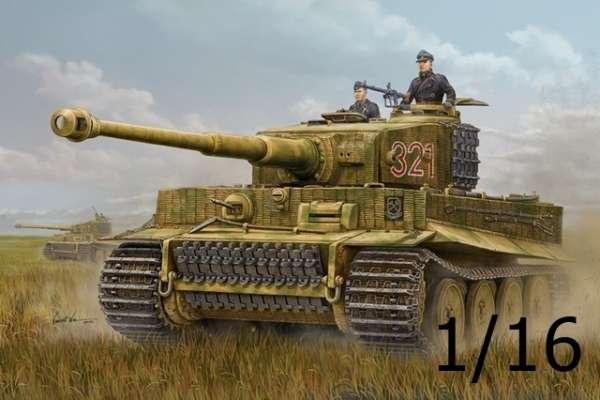 Niemiecki ciężki czołg Pz.Kpfw. VI Tiger I, plastikowy model do sklejania Hobby Boss 82601 w skali 1/16.