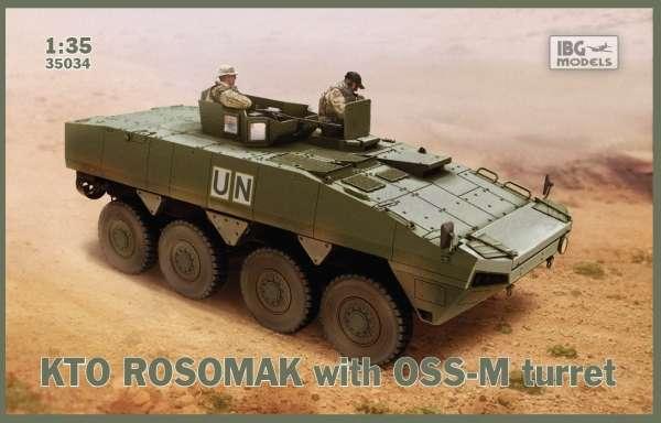 Polski transporter opancerzony KTO Rosomak z wieżą OSS-M, plastikowy model do sklejania IBG 35034 w skali 1:35.