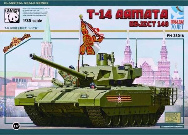Rosyjski czołg T-14 Armata nazywany również Obiekt 148, plastikowy model do sklejania Panda 35016 w skali 1:35