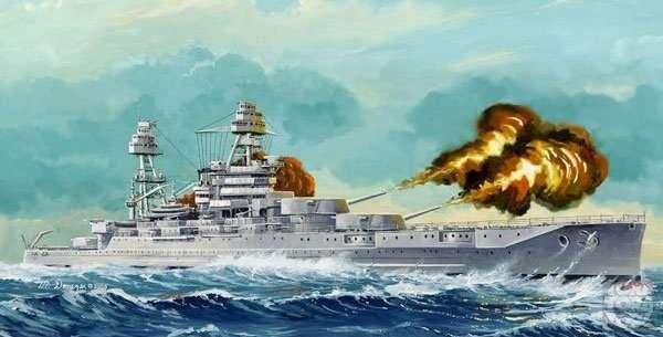 Amerykański pancernik USS Arizona BB-39 (1941), plastikowy model do sklejania Hobby Boss 86501 w skali 1:350.-image_Hobby Boss_86501_1