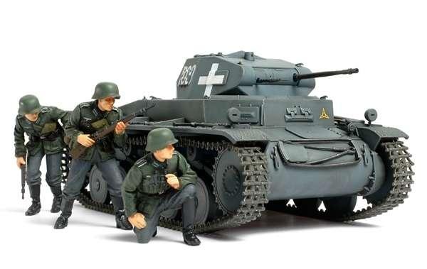 Niemiecki czołg lekki Panzerkampfwagen II Ausf.C z Kampani Wrześniowej 1939, plastikowy model do sklejania Tamiya 35299 w skali 1:35.-image_Tamiya_35299_1