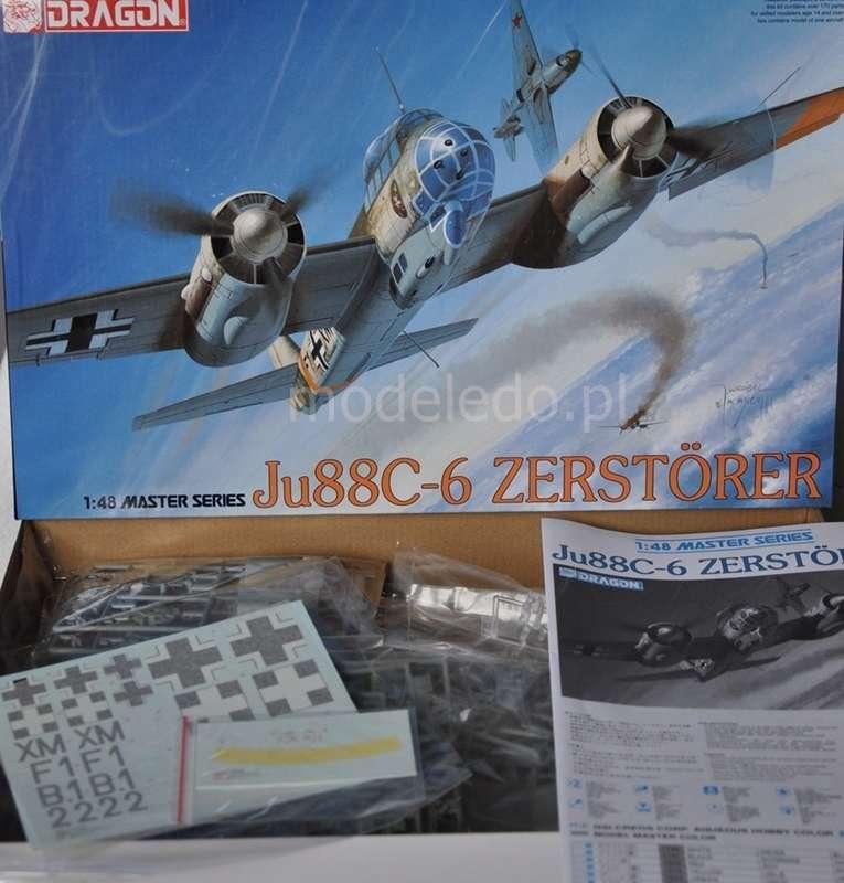 Niemiecki Myśliwiec Junkers Ju-88C-6 Zerstorer W Skali 1:48