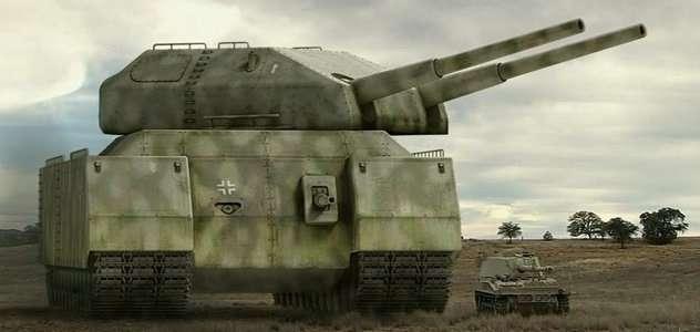 Ciężki lądowy krążownik P1000 Ratte - Szczur