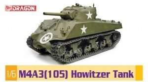 Dragon 75046 M4A3(105) Howitzer Tank - skala 1:6