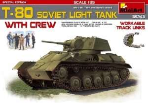 MiniArt 35243 T-80 Soviet Light Tank with Crew