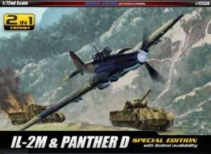 Duopack Ił-2M and tank Panther D - Academy 12538