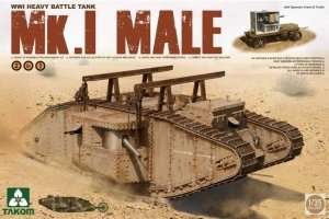 Takom 2031 Tank WWI Mark Mk.I Male 2 in 1