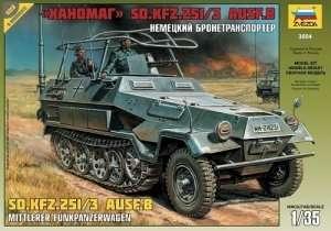 Zvezda 3604 Sd.Kfz.251/3 Ausf.B Mittlerer Funkpanzerwagen