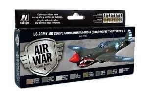Vallejo 71184 Zestaw 8 farb - US Army Air Corps China-Burma-India (CBI)