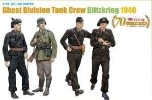 Dragon 6654 Ghost Division Tank Crew Blitzkrieg 1940
