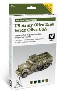 Vallejo 78402 Zestaw Model Air - US Olive Drab 6x8ml