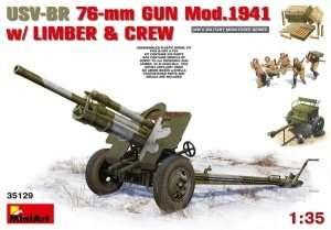 Model działo USV-BR 76-mm Mod. 1941 z załogą MiniArt 35129