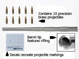 Tamiya 12670 U.S. M40 Metal Gun Barrel Set