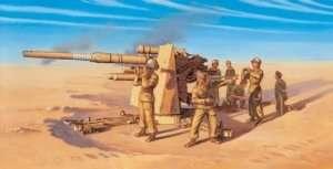 Italeri 7512 8,8 cm Flak 37 AA Gun with crew