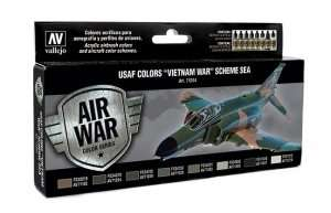 Vallejo 71204 - Zestaw 8 farb - USAF Colors Vietnam War Scheme SEA