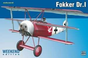 Fighter Fokker Dr.1 w skali 1:72