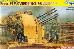 Dragon 6547 2cm Flakvierling 38 (Late Production) w/Crew